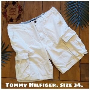 Tommy Hilfiger Mens Cargo shorts white size 34
